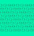 the pattern expression smilies emotions faces vector image