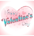 valentines day lettering card vector image