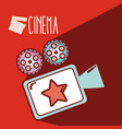 vintage reel camera cinema cartoon vector image