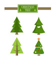 xmas tree advert sale board set of spruce icons vector image vector image