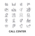 call center customer service agent client help vector image