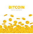 falling gold bitcoins cartoon frame vector image