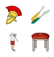 seats leg and other web icon in cartoon styleart vector image