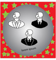 businessman icon with boxing glove head vector image