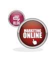 Marketing online design ecommerce icon Isolated vector image