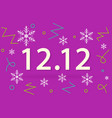 1212 campaign winter surprise sale business vector image