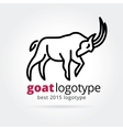 2015 goat logotype isolated on white background vector image