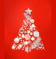 abstract christmas tree with different accessory vector image