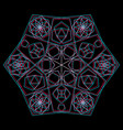 abstract sacred geometry decoration vector image vector image