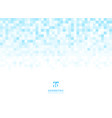 abstract squares geometric light blue background vector image vector image