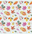 autumn tree leaves and fall foliage pattern