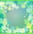 background with bright green leaves vector image