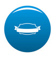 badge stamp icon blue vector image vector image