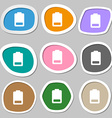 Battery low level Electricity icon symbols vector image vector image