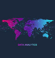 big data analytics and business intelligence vector image vector image