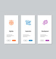 big idea inspiration development onboarding vector image vector image