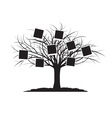 Black Tree and Cards vector image