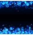 Blue shining bokeh frame abstract background vector image vector image