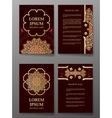 Brochure templates cards with arabic mandala vector image
