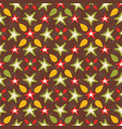 brown and orange festive traditional stars snow vector image vector image