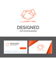 business logo template for handshake hand shake vector image