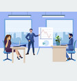 business work process in room vector image