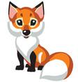 cartoon little fox vector image vector image