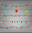 christmas lights seamless flat color vector image vector image