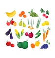 collection ripe fresh organic fruits and vector image vector image