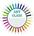 color pencils circle banner vector image vector image