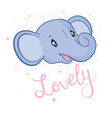 cute card with elephant baby vector image vector image