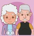 cute grandparents cartoon vector image vector image