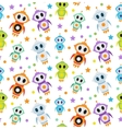 Cute kids seamless pattern robot rocket Children vector image