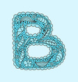 Cute letter B Floral monogram B vector image vector image