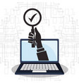 cyber security technology check protection vector image