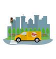 delivery transport cartoon vector image vector image