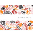 dried fruits and berries frame design vintage