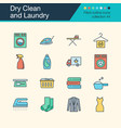 dry clean and laundry icons filled outline design vector image vector image