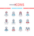 family members - line design style icons set vector image