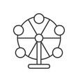 ferris wheel icon amusement park related line vector image