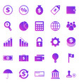 finance gradient icons on white background vector image vector image