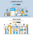 Flat design line concept Career and Team work vector image vector image