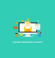 flat design marketing strategy content vector image