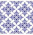 floral blue and white pattern vector image vector image