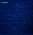 futuristic blue square pattern decoration vector image vector image