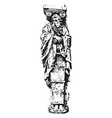 gaine of renaissance sculpture is a lower part of vector image vector image