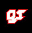 gi logo design initial gi letter design vector image vector image