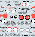 graphic pattern different mustache vector image vector image