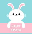 happy easter rabbit bunny cute cartoon kawaii vector image vector image