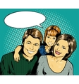 Happy family with kid in vector image